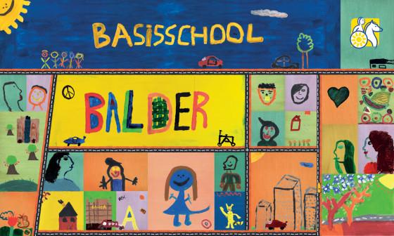 banner voor school De Balder