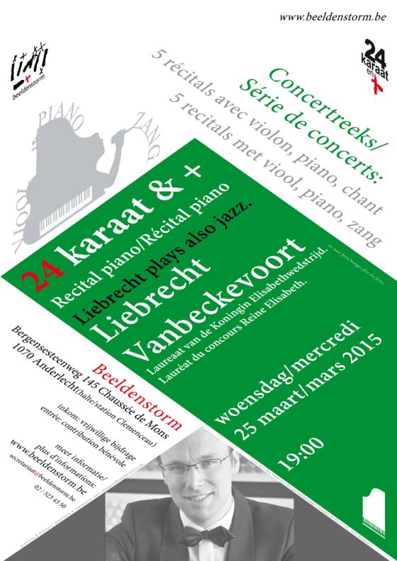 24 karaat & + concert reeks: Recital piano • Liebrecht Vanbeckevoort