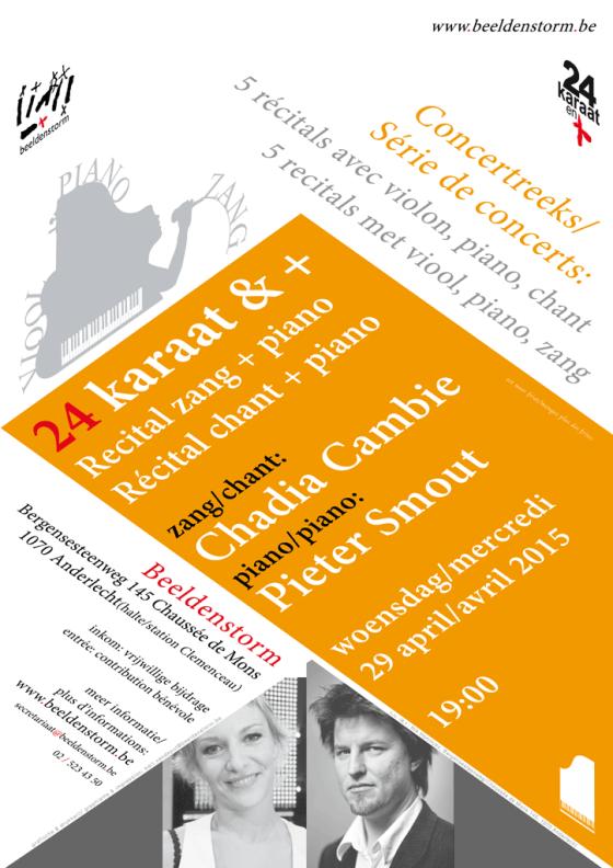 24 karaat & + concert reeks: Recital piano • Chadia Cambie & Pieter Smout • deel 5/5