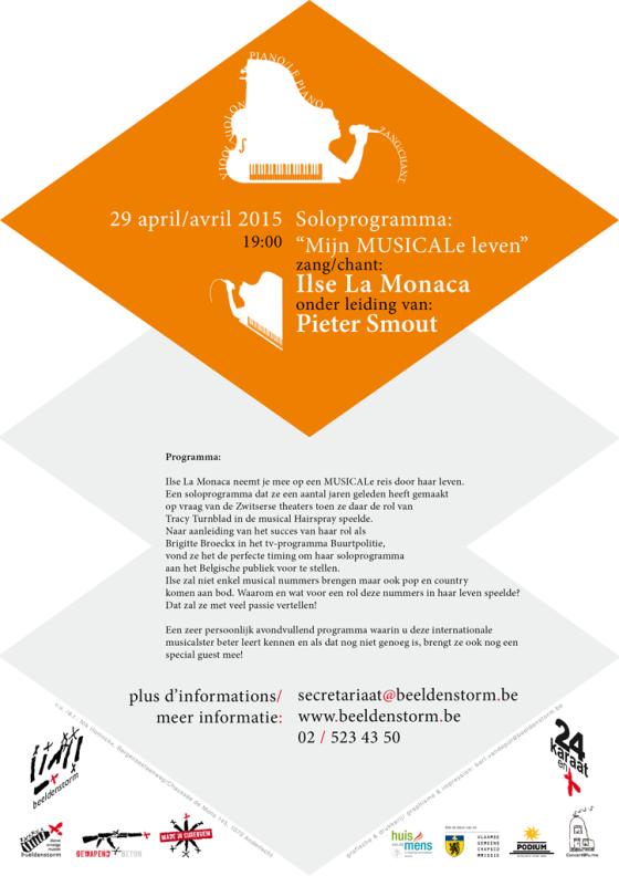 """""""Mijn musicale leven"""", een soloprogramma van Ilse La Monaca o. l. v. Pieter Smout"""