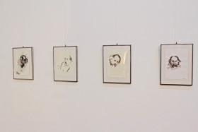Bram Vermeulen getekend door Bert de Keyser - opening tentoonstelling