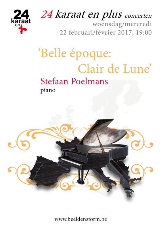 """24 karaat & plus concert: """"Belle époque - Claire de Lune"""" Stefaan Poelmans piano"""