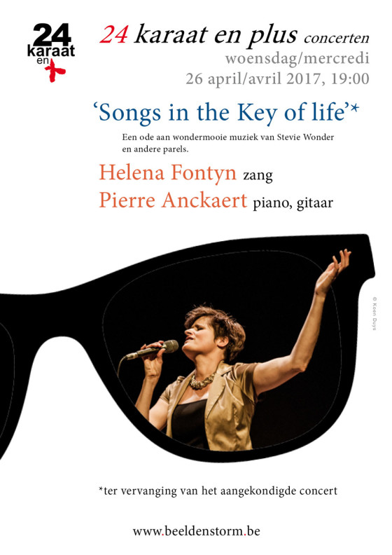 """Songs in the Key of life"" • Helena Fontyn (zang) en Pierre Anckaert (piano, gitaar)"