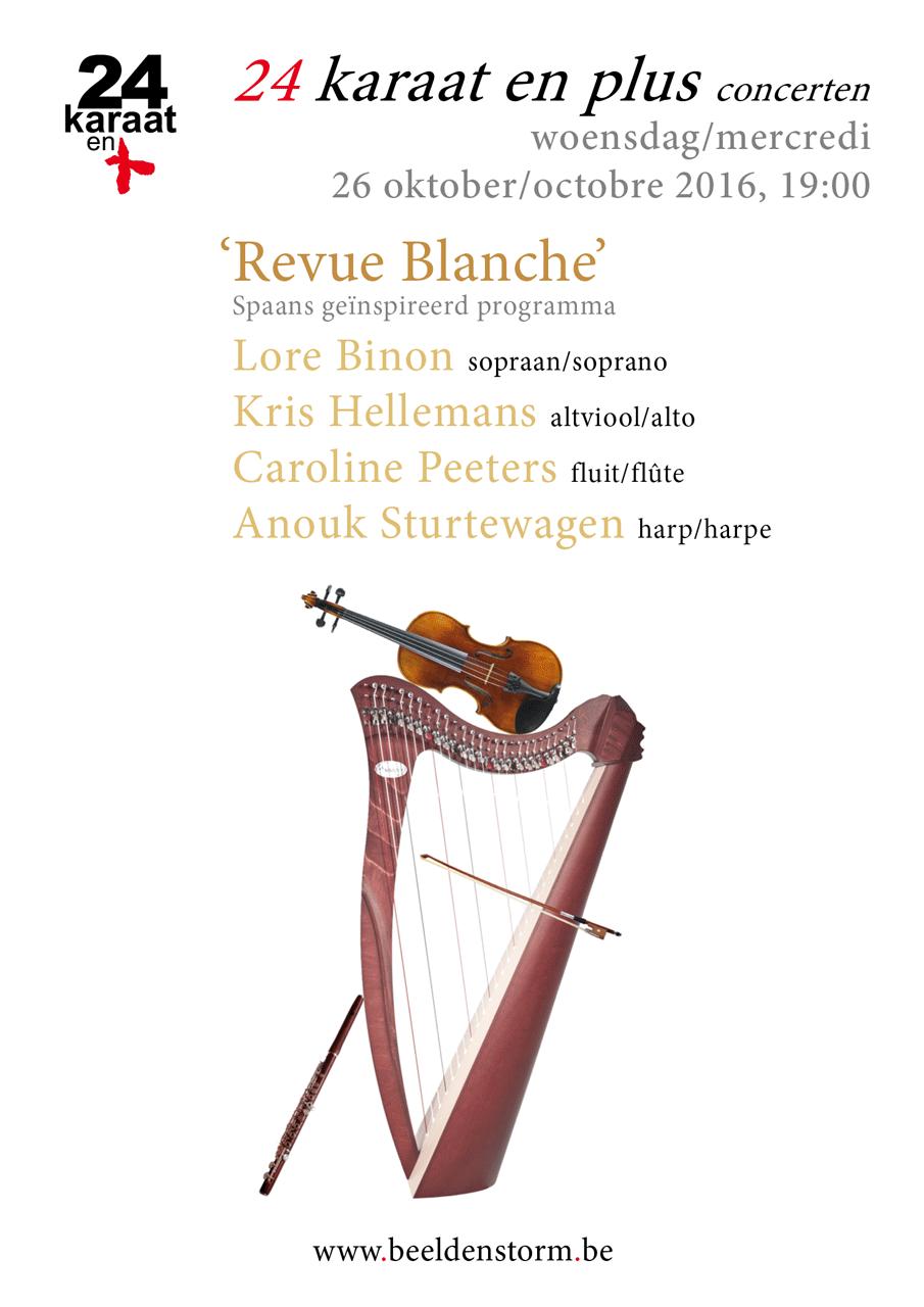 """24 karaat & plus concert: """"Revue Blanche"""" met een Spaans geïnspireerd programma"""
