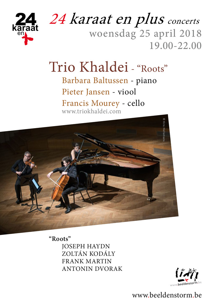 "24 karaat & plus concert: Trio Khaldei - ""Roots"" (piano, viool en cello)"
