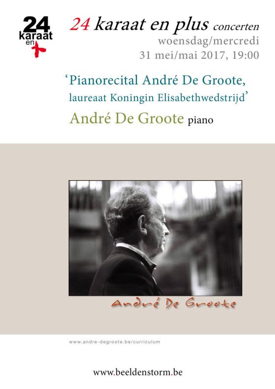 """24 karaat & plus concert: """"André De Groote"""" (piano)"""