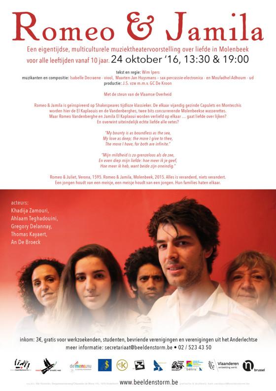 """""""Romeo & Jamila"""" Een eigentijdse, multiculturele muziektheatervoorstelling over liefde in Molenbeek."""