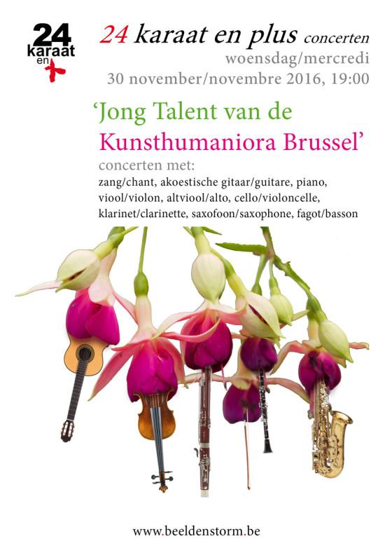 """24 karaat & plus concert: """"Jong Talent van de Kunsthumaniora Brussel"""""""